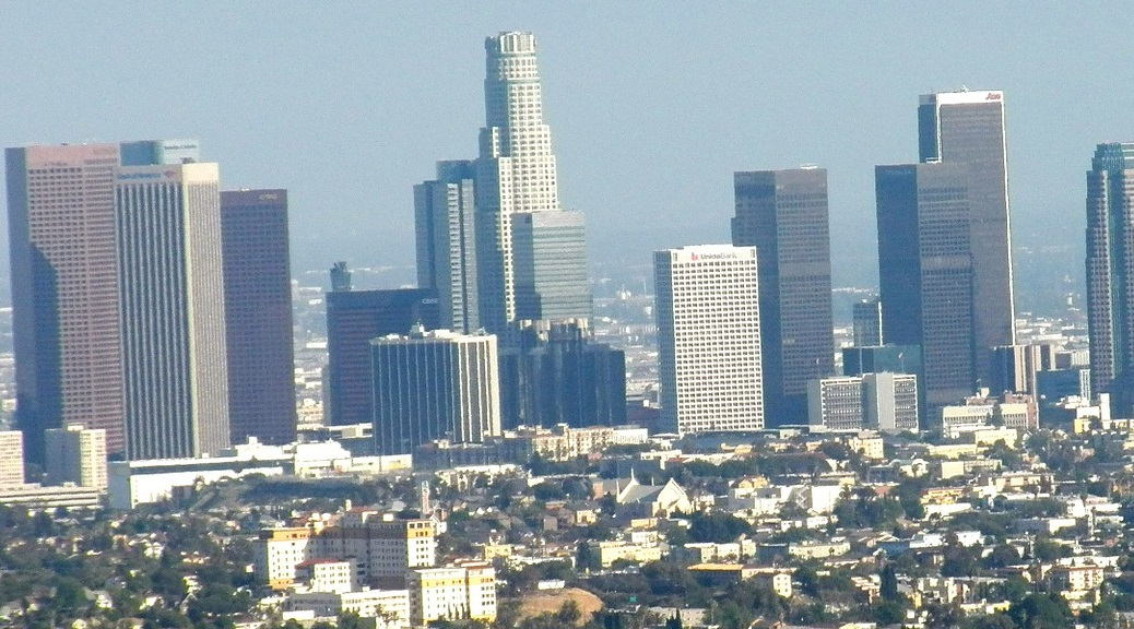 Skyline of the city of Los Angeles
